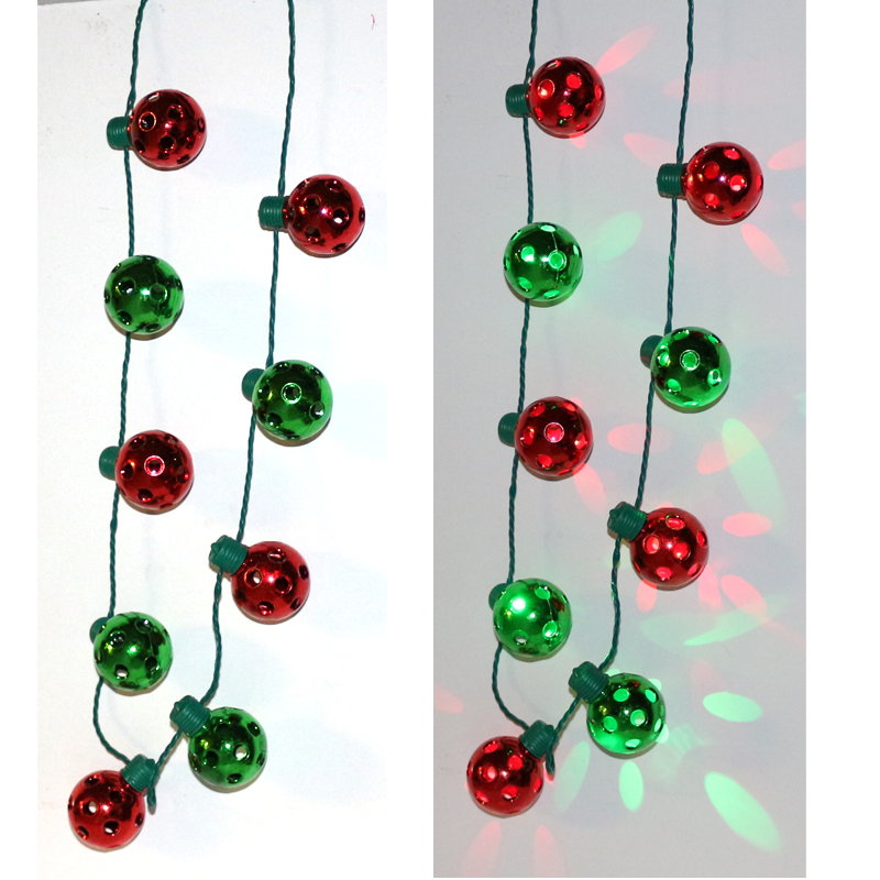Light Up Christmas Necklace.Light Up Christmas Round Bulb Necklace