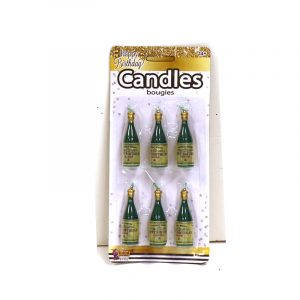 Happy Birthday Champagne Bottle Candles