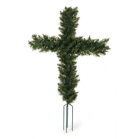 Canadian Pine Cosmos Cemetery Cross w Spikes