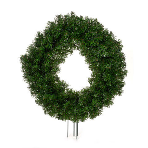 Canadian Pine Cosmos Cemetery Wreath Shape w Spikes
