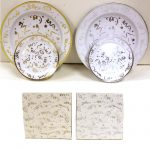 Confetti Plates & Napkins Gold Silver New Year's Eve Party