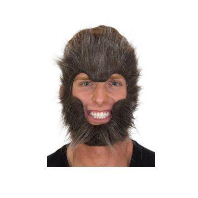 Costume Plush Instant Werewolf Facial Hair Accessory