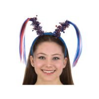 Patriotic Headband with Star tinsel and hair