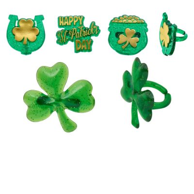 Plastic Saint Patricks Day Rings