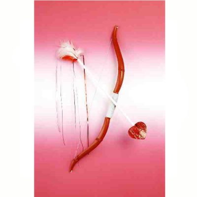 Red Plastic Cupid Bow & Arrow set
