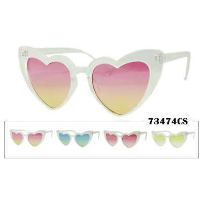 Transparent Shaded Heart Lens Sunglasses