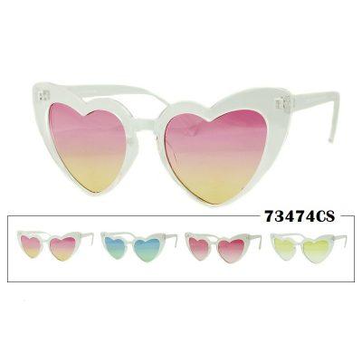 Transparent Shaded Heart Lens Sunglasses