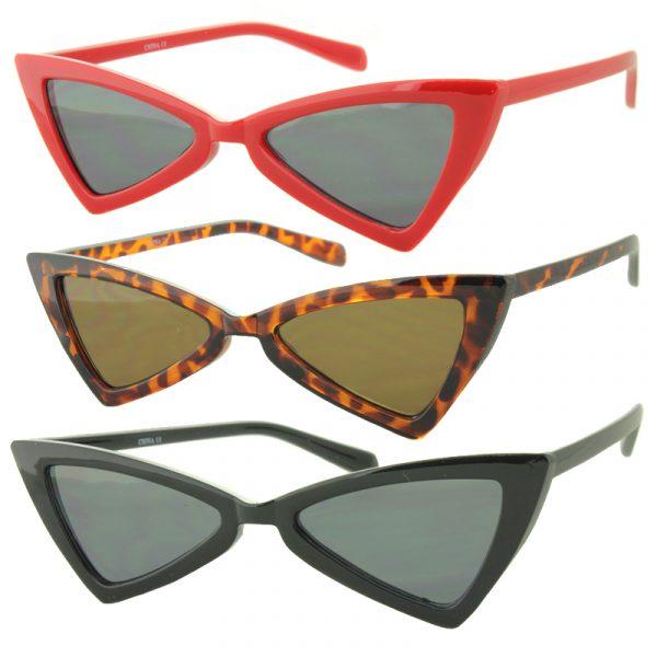 Triangle Lens Retro Shaped Sunglasses