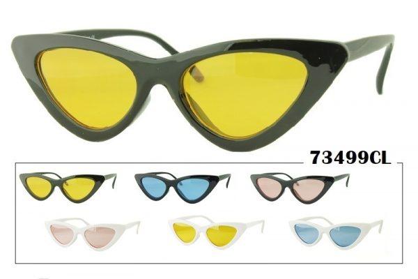 Colored Lens Retro Cat Eye Shaped Sunglasses