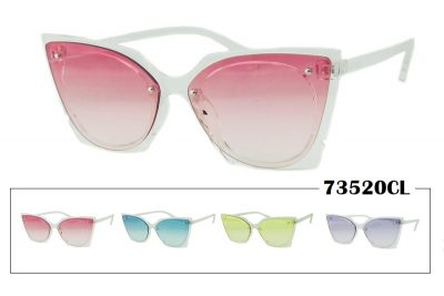 Transparent Shaded Lens Sunglasses - Clear Frame