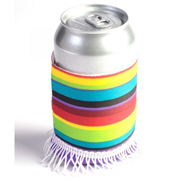 Fabric Fiesta Serape Can Koozie.