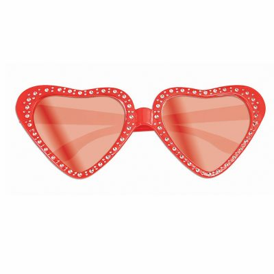 Red Plastic Heart Eyeglasses