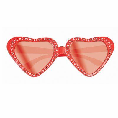 Red Plastic Heart Eyeglasses