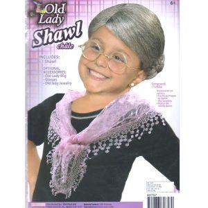 Costume Fabric Old Lady Shawl - 100 Days of School