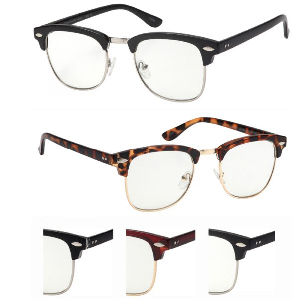 Clear Lens Opaque Frame Eyeglasses
