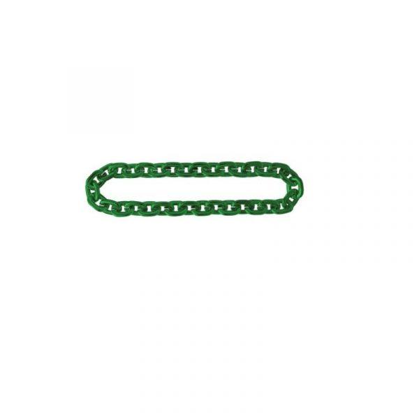 Costume Metallic Plastic Jumbo Green Chain Necklace
