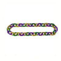 Jumbo Metallic Plastic Mardi Gras Chain Necklace