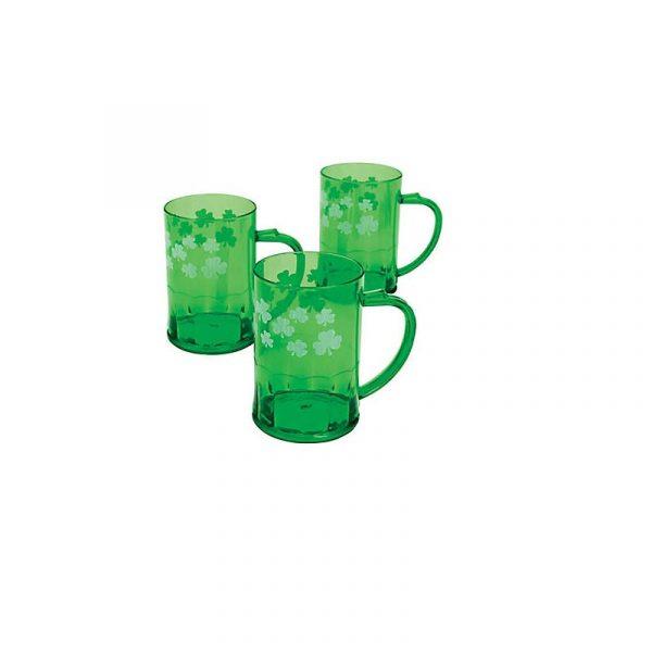 Green Plastic Shamrock Mug