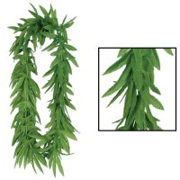 Green Tropical Foliage Lei Pot Leaves