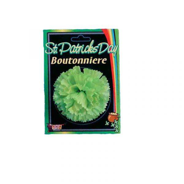 Saint Patrick Silk Carnation Boutonniere