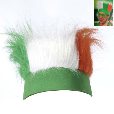 Tri Color Irish Faux Fur Headband
