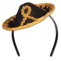 Small Trimmed Felt Sombrero Headband