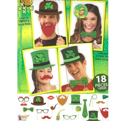 18-Piece Saint Patricks Photo Booth Accessories Kit