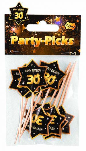 30th Birthday Star-Shaped Party Picks