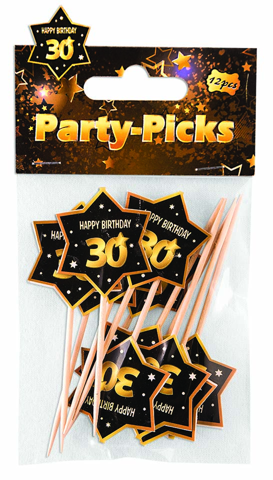 30th Birthday Star-Shaped Party Picks