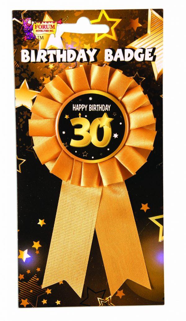 30th Birthday Ribbon Rosette Pin