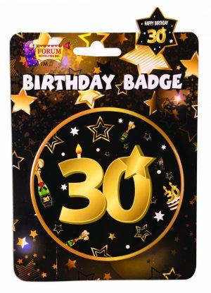 30th Birthday Button Badge