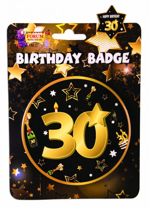 30th Birthday Button Badge