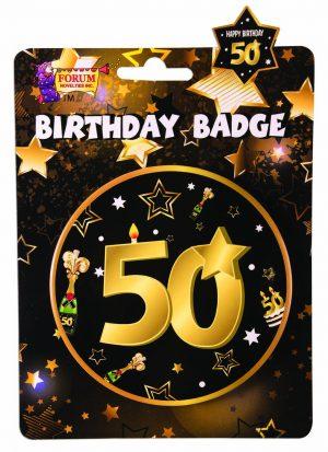 50th Birthday Button Badge
