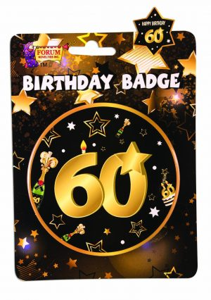 60th Birthday Button Badge