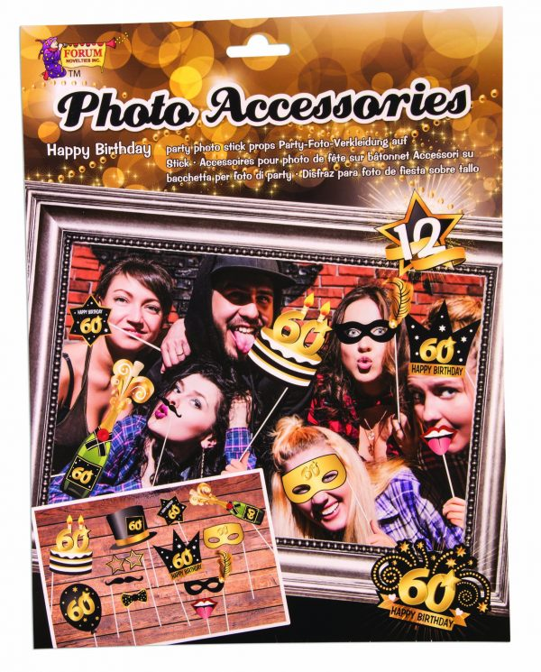 60th Birthday Photo Booth Props