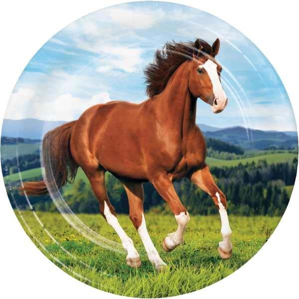 "Horse and Pony Paperware 9"" plate"