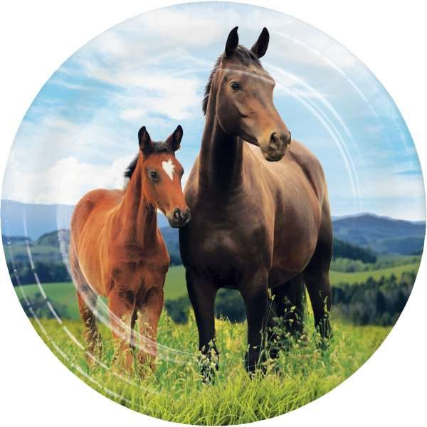 "Horse and Pony Paperware 7"" plate"