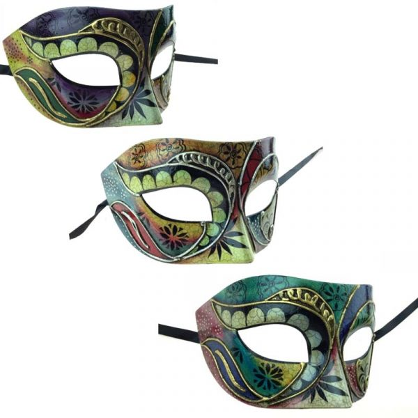 Costume Painted Design Venetian Half Mask