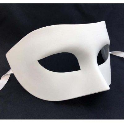 White Blank Venetian Half Mask
