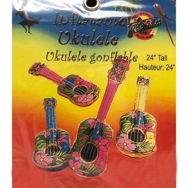 "24"" Tropical Print Inflatable Ukulele"