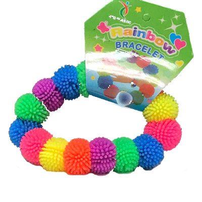 Party Neon Rubber Puffer Bracelet