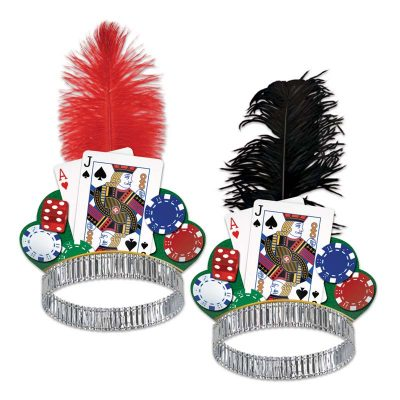 Casino Night Tiara Red or Black