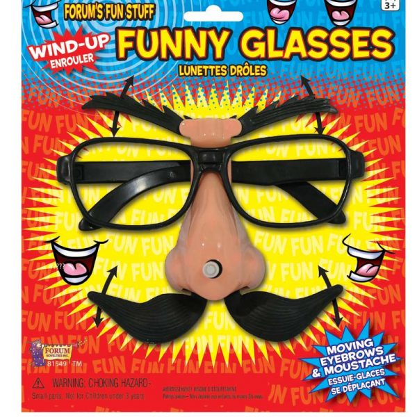 Wind up glasses with mustache
