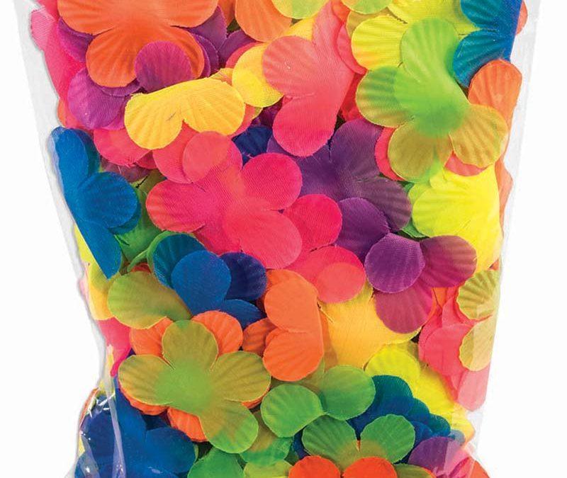 Party Fabric Luau Fluorescent Petals