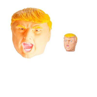 Rubber Trump Head Puppet - Hand or Finger Puppet
