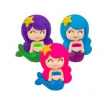"""6"""" tall Rubber Squeaking Toy Mermaid"""