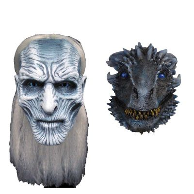 Game of Thrones White Walkers and White Walker Dragon mask