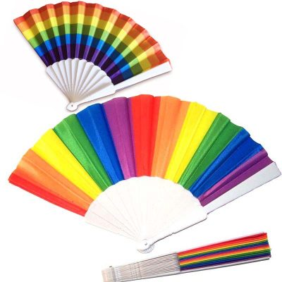 Pride Rainbow Fans Vertical or Horizontal