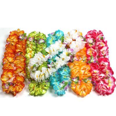 Silk Mixed Flower Petal Lei