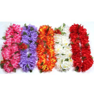 Silk Rose Petal Lei 5 Assorted Colors